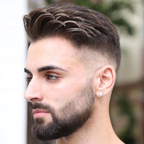 Bald-Fade-med-Beard-og-Comb-Over