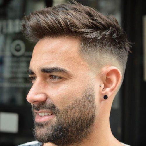 Bald-Fade-med-skæg-og-en-lang-top