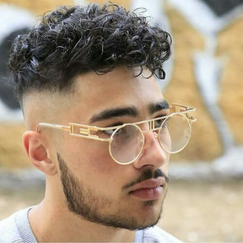 Curly-Bald-Fade-with-Beard