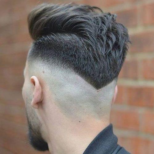 V-formet-Bald-Fade-med-Beard