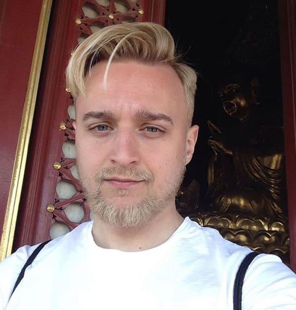 blondt skæg frisurer