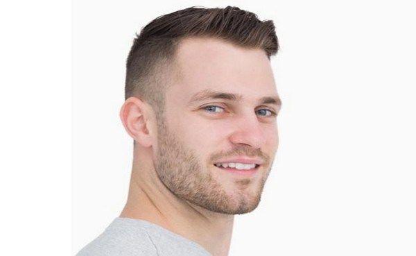 Asymmetriske korte hårklippninger til mænd
