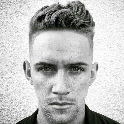 Bølget Pompadour Haircut