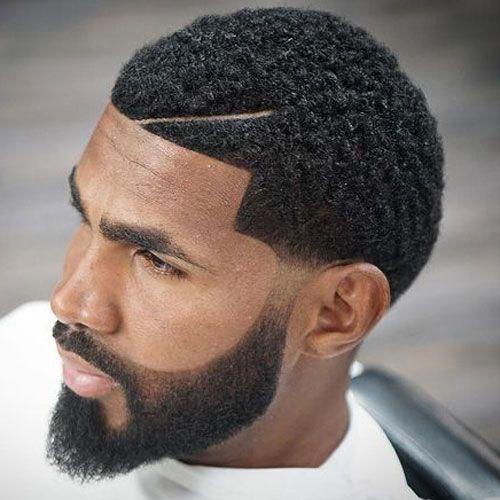 Bearded og Tapered Short Afro