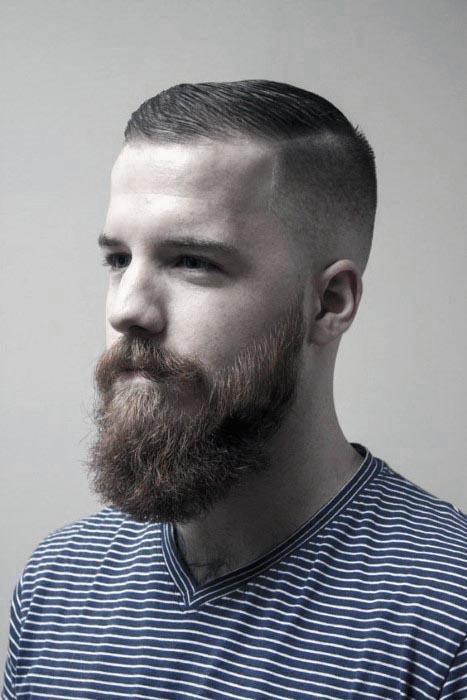 Beards med korte hårklipp