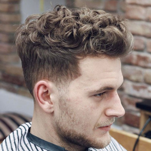 Curly Quiff Haircut