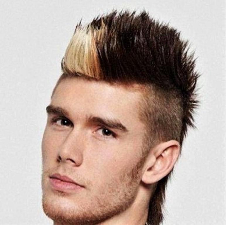 Fanned Pompadour Haircut