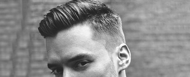 Herre korte frisurer til tykt hår