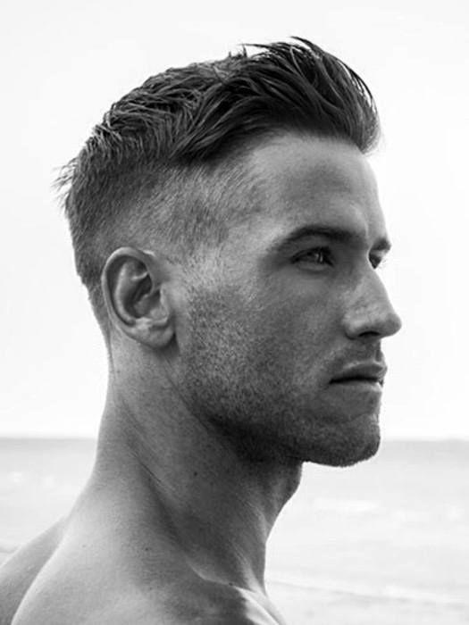Herre korte hårklipp for tyndt hår