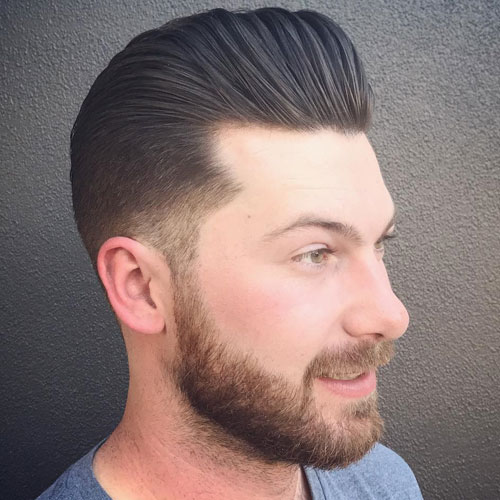 Klassisk Pompadour Haircut
