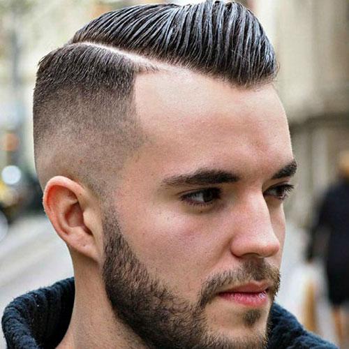 Korte frisør til mænd med Comb Overs