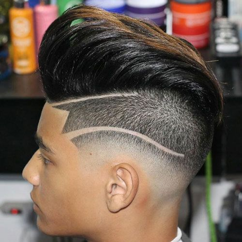 Quiff Haircut med Undercut Design