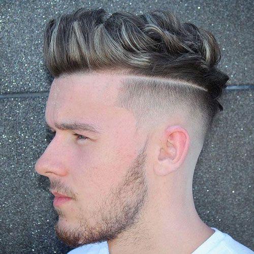 Quiff Haircut med hård del