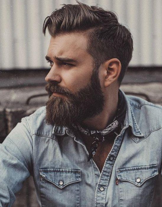 Quiff Haircut med overskæg