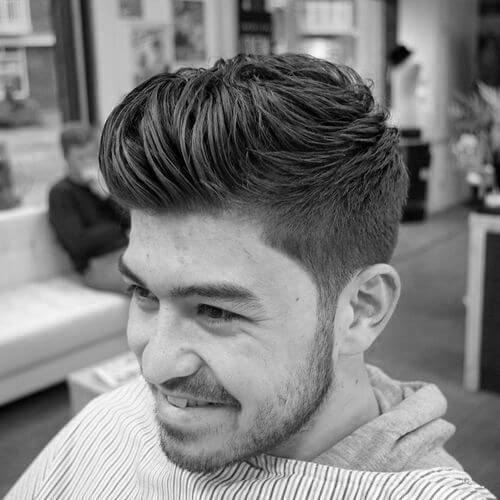 Swirling Quiff Haircut